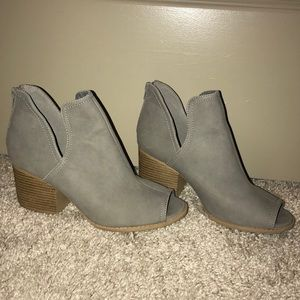 Vici Collection Grey Peep Toe Bootie